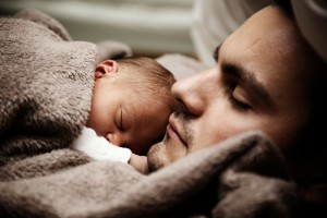 Dad infant sleeping